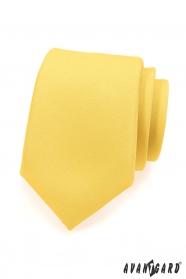 Sárga matt nyakkendő
