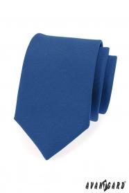 Kék férfi nyakkendő, matt felülettel