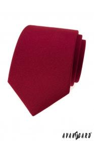 Matt férfi nyakkendő bordó színű