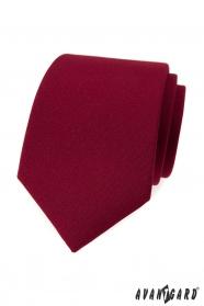 Férfi nyakkendő matt bordó színű