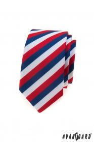 Keskeny nyakkendő Tricolor Lux