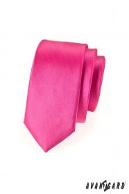Keskeny nyakkendő, fukszia fényes színű
