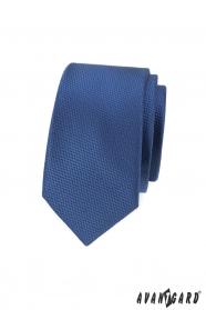 Sötétkék férfi keskeny nyakkendő