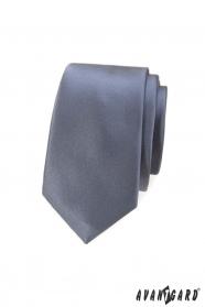 Férfi keskeny nyakkendő szürke színben