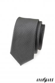 Grafit szürke karcsú nyakkendő