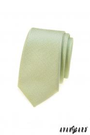 Zöld slim nyakkendő, kötött szerkezet