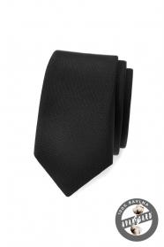 Fekete, matt vékony nyakkendő