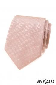 Por rózsaszín nyakkendő hópelyhekkel