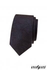 Barna, strukturált nyakkendő Paisley mintával