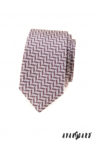 Karcsú nyakkendő por rózsaszín mintával
