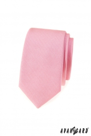 Rózsaszín mintás keskeny nyakkendő