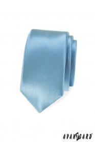 Halvány kék, fényes vékony nyakkendő
