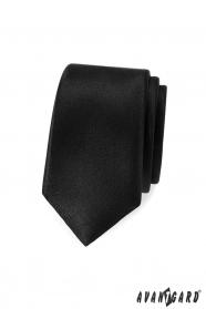 Keskeny, fekete férfi nyakkendő