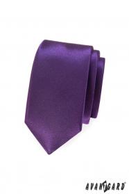 Sima lila slim nyakkendő