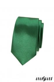 Keskeny nyakkendő, zöld árnyalat