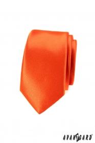Keskeny nyakkendő, mély narancs színű
