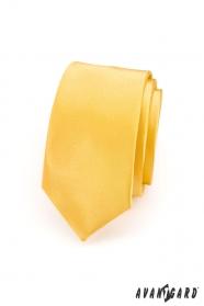 Keskeny sárga slim nyakkendő
