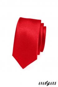Keskeny piros nyakkendő SLIM