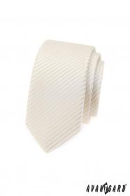 Slim nyakkendő krém színben
