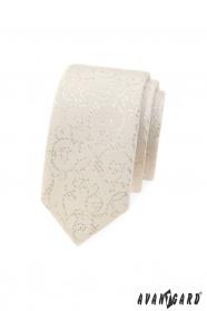 Keskeny Avantgard nyakkendő krém színben