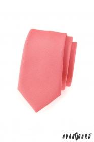 Keskeny vén rózsaszín slim nyakkendő