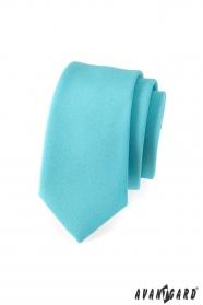 Keskeny nyakkendő, türkiz szín matt