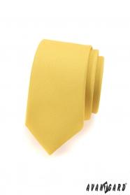 Keskeny SLIM nyakkendő világos sárga