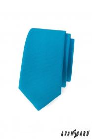 Keskeny nyakkendő matt türkizben