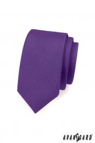 Matt lila keskeny nyakkendő