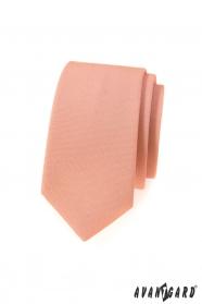 Keskeny nyakkendő lazac színben