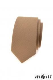 Világosbarna keskeny nyakkendő