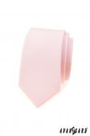 Keskeny nyakkendő enyhén lazac színű