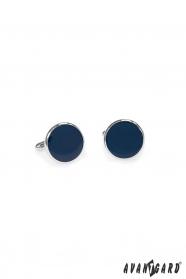Mandzsettagombok  gömbölyű, kék színű