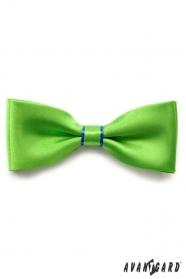 Zöld csokornyakkendő, kék csíkos és egy díszzsebkendő