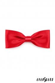 Piros, fényes csokornyakkendő díszzsebkendő