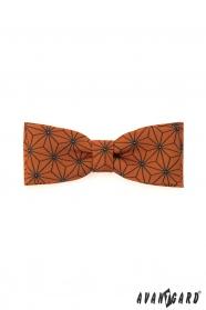 Narancssárga csokornyakkendő geometrikus mintával