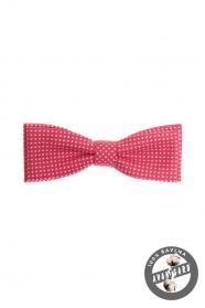Rózsaszín-fehér, pöttyös férfi csokornyakkendő