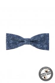 Kék virágos mintás pamut csokornyakkendő