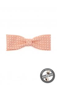 Rózsaszín, fehér pöttyös csokornyakkendő