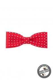 Pamut piros csokornyakkendő pöttyös mintával