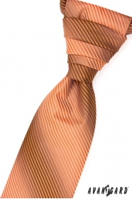 Esküvői csíkos narancssárga nyakkendő