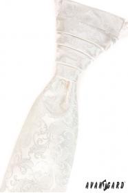 Krém paisley mintás francia nyakkendő