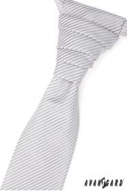 Esküvői nyakkendő, fényes csíkkal