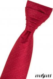 Piros francia nyakkendő egy díszzsebkendővel