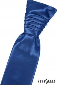 Fényes kék szín francia nyakkendő