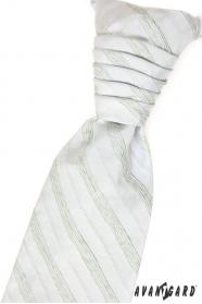 Francia nyakkendő, zöld csíkok