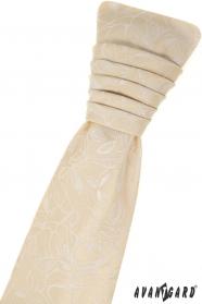 Francia nyakkendő és díszzsebkendő - Csontszín