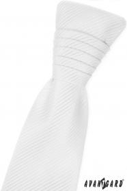 Fehér francia nyakkendő fényes csíkokkal