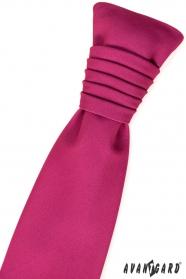 Francia nyakkendő fukszia matt