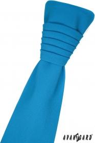 Türkiz francia nyakkendő díszzsebkendővel